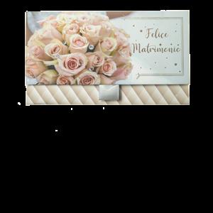 Biglietto Pochette Matrimonio Bouquet Fantasia Geometrica