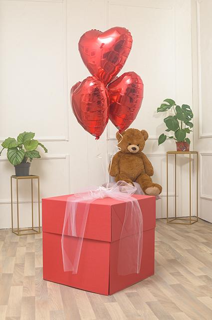 Box Surprise Rossa Grande è una scatola sorpresa pensata per regali di medie dimensioni.
