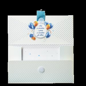 Biglietto Pochette 18 Anni Azzurro & Bianco Biglietto Pochette 18 Anni Azzurro & Bianco ha dimensioni 16 x 10 x 9 cm ed è pratico e tascabile. Nella parte interna superiore è presente un messaggio d'auguri, oltre allo spazio per un messaggio personalizzato da aggiungere a mano.