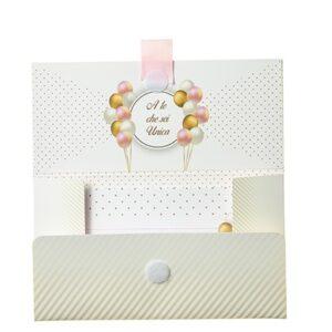 Biglietto Pochette 18 Anni Rosa Pastello & Oro è un biglietto augurale porta-soldi pensato per un compleanno di 18 anni.