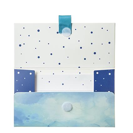 """Biglietto Pochette Compleanno """"Tanti Auguri"""" Boxes Blu"""