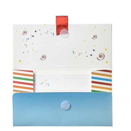 """Biglietto Pochette Compleanno """"Tanti Auguri"""" MultiColor ha dimensioni 16 x 10 x 9 cm ed è pratico e tascabile."""