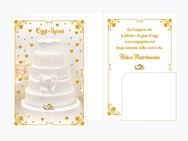 "Biglietto Auguri Matrimonio ""Oggi Sposi"""