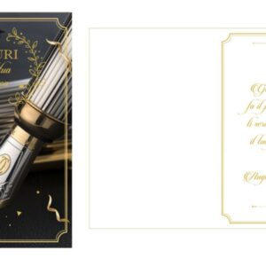 Biglietto di Auguri per Laurea Glitter Oro